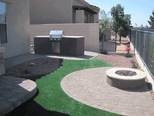 Picture of a barbecue project for mesa landscaping - Mesa Landscaping - Mesa, AZ - Arizona Desert Scapes
